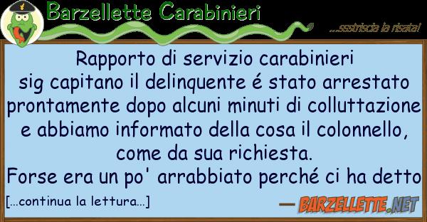 Barzellette Carabinieri rapporto servizio carabinieri sig ca