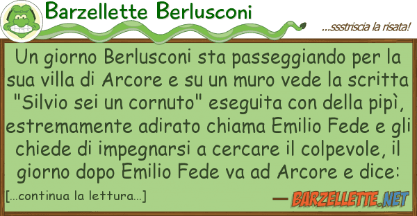 Barzellette Berlusconi giorno berlusconi sta passeggiando pe