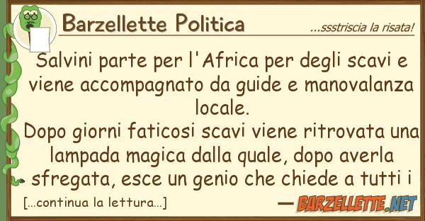 Barzellette Politica salvini parte l'africa sca