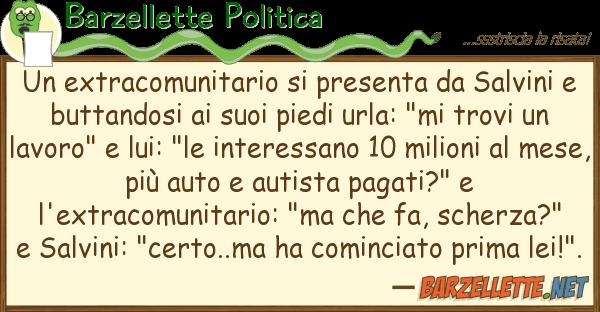 Barzellette Politica extracomunitario presenta salvi