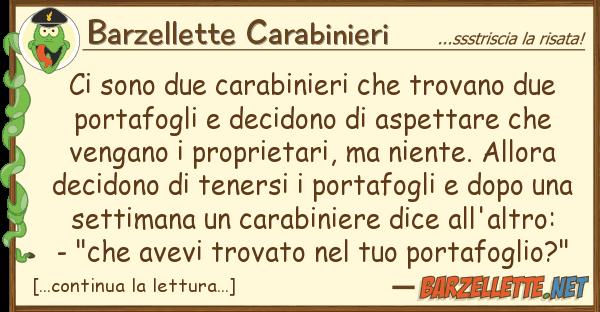Barzellette Carabinieri sono due carabinieri trovano due
