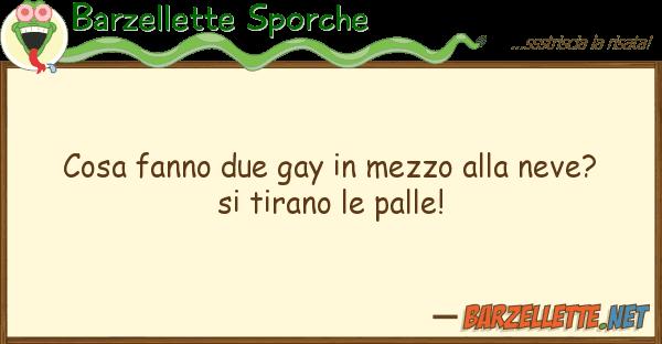 Barzellette Sporche cosa fanno due gay mezzo neve? s