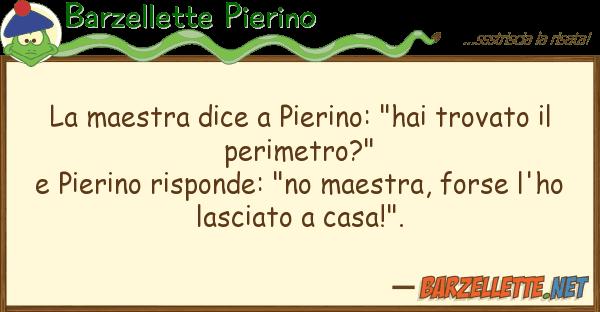 """Barzellette Pierino maestra dice pierino: """"hai trovato"""