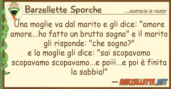 """Barzellette Sporche moglie va marito dice: """"am"""