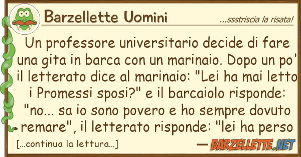Barzellette Uomini professore universitario decide fa