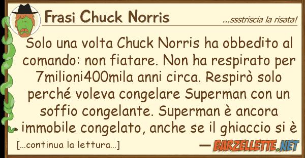 Frasi Chuck Norris solo volta chuck norris ha obbedito