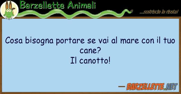 Barzellette Animali cosa bisogna portare vai mare