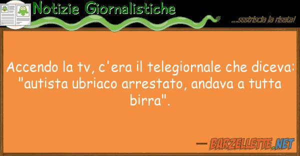 Notizie Giornalistiche accendo tv, c'era telegiornale