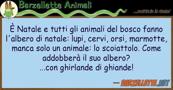Barzellette Animali ? natale animali bosco f