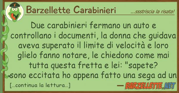 Barzellette Carabinieri due carabinieri fermano auto