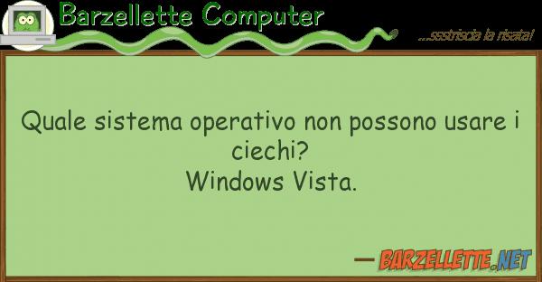 Barzellette Computer sistema operativo possono usar