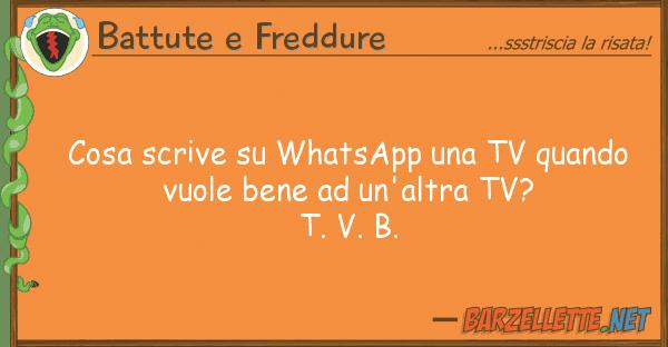 Battute e Freddure cosa scrive whatsapp tv quando vu
