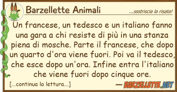 Barzellette Animali francese, tedesco italiano fa