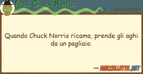 Frasi Chuck Norris quando chuck norris ricama, prende