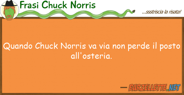 Frasi Chuck Norris quando chuck norris va via perde