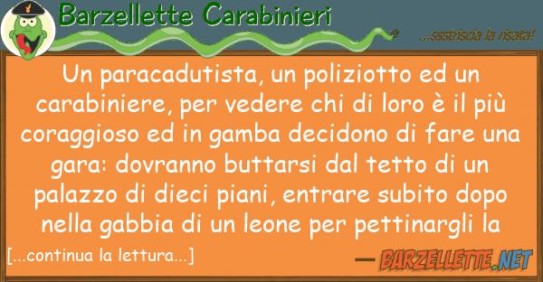 Barzellette Carabinieri paracadutista, poliziotto ca