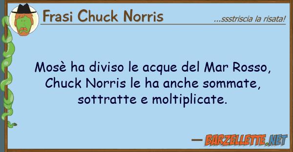 Frasi Chuck Norris mos? ha diviso acque mar rosso,