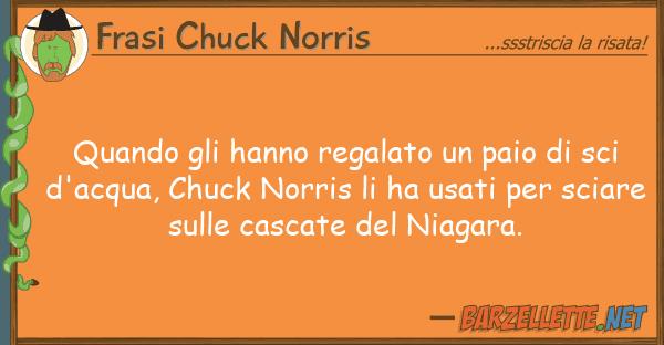 Frasi Chuck Norris quando hanno regalato paio sci