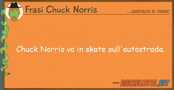 Frasi Chuck Norris chuck norris va skate sull'autostrada