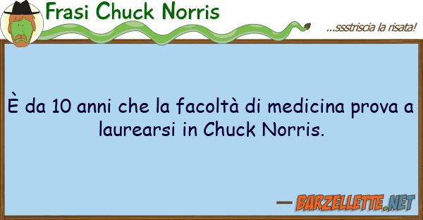 Frasi Chuck Norris ? 10 anni facolt? medicina