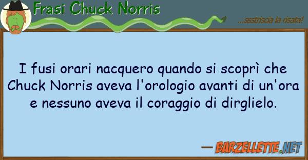 Frasi Chuck Norris fusi orari nacquero quando scopr?