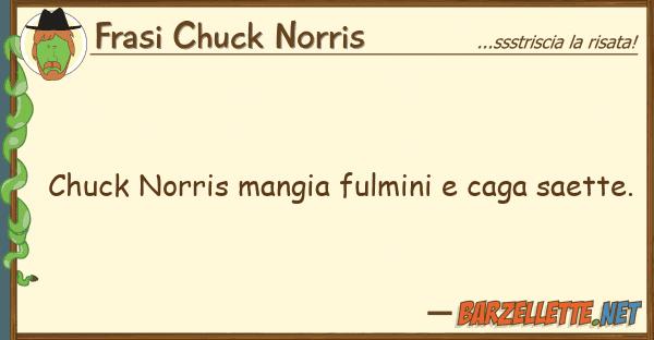 Frasi Chuck Norris chuck norris mangia fulmini caga saett
