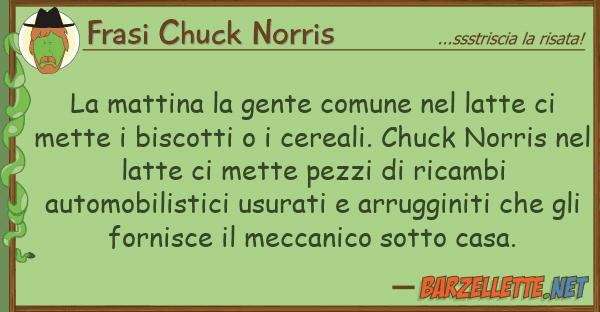Frasi Chuck Norris mattina gente comune latte