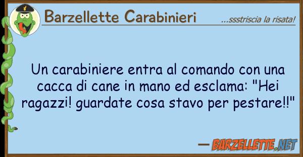 Barzellette Carabinieri carabiniere entra comando
