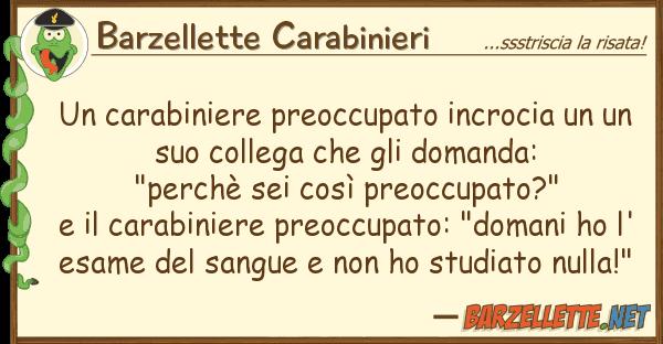 Barzellette Carabinieri carabiniere preoccupato incrocia u