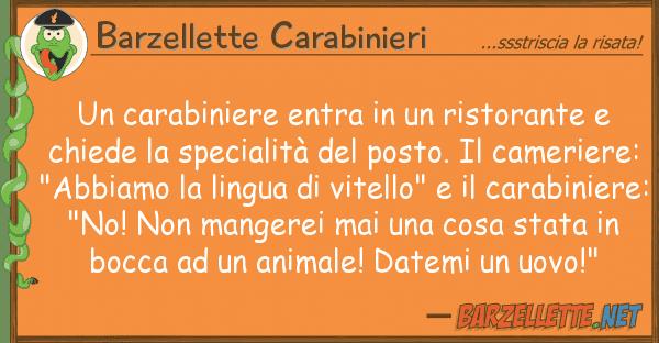 Barzellette Carabinieri carabiniere entra ristorante