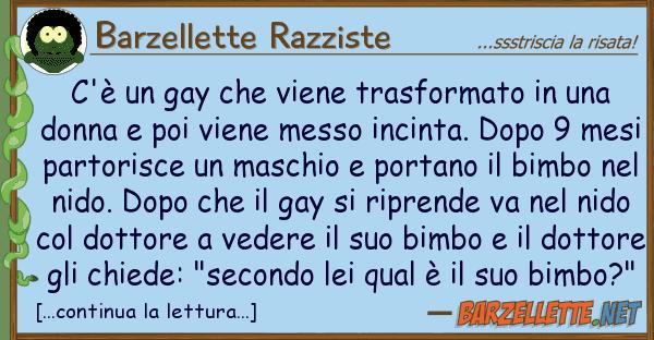 Barzellette Razziste c'? gay viene trasformato
