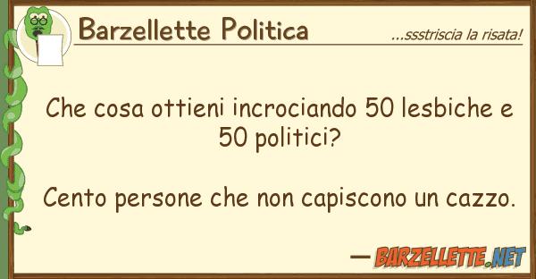 Barzellette Politica cosa ottieni incrociando 50 lesbiche