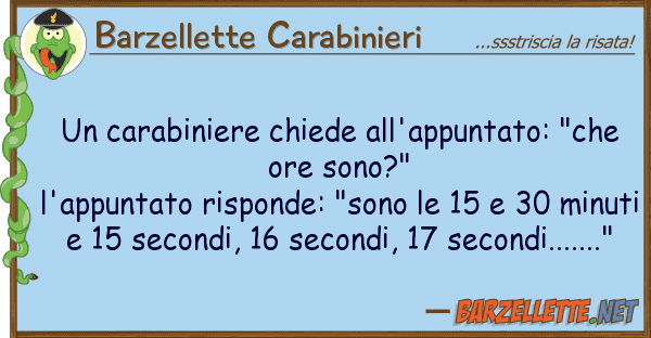 "Barzellette Carabinieri carabiniere chiede all'appuntato: ""ch"