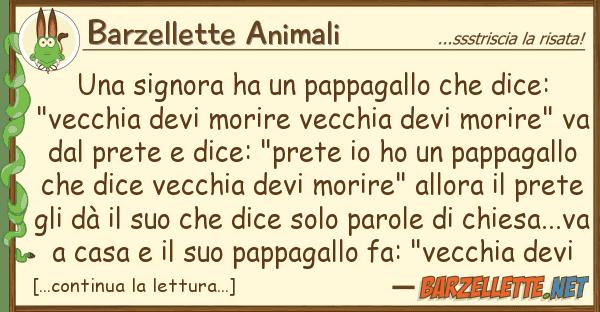 """Barzellette Animali signora ha pappagallo dice: """""""