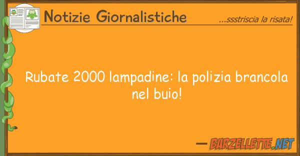 Notizie Giornalistiche rubate 2000 lampadine: polizia branco