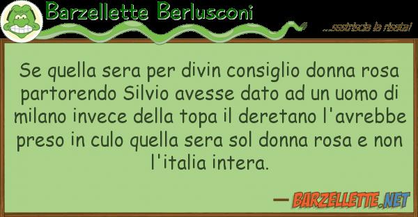 Barzellette Berlusconi sera divin consiglio donna
