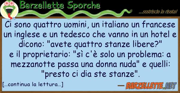 Barzellette Sporche sono quattro uomini, italiano f
