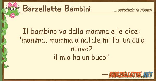 "Barzellette Bambini bambino va mamma dice: ""ma"