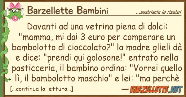 "Barzellette Bambini davanti vetrina piena dolci: """