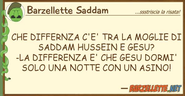 Barzellette Saddam differnza c'e' moglie sadd