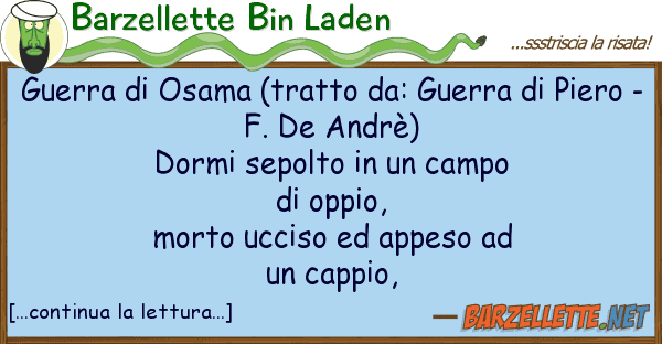 Barzellette Bin Laden guerra osama (tratto da: guerra pi