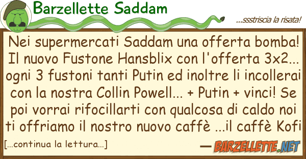 Barzellette Saddam supermercati saddam offerta bomb
