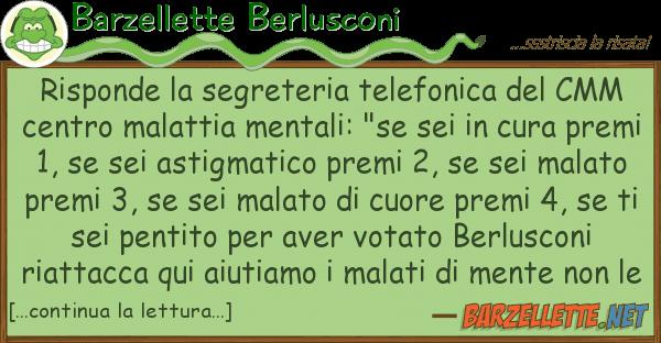 Barzellette Berlusconi risponde segreteria telefonica cm