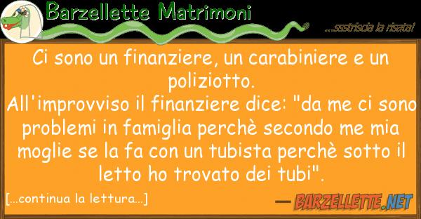 Barzellette Matrimoni sono finanziere, carabiniere