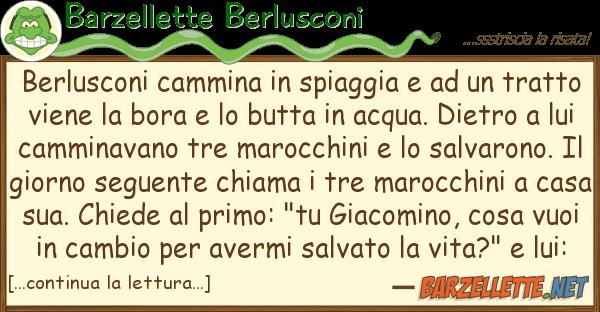 Barzellette Berlusconi berlusconi cammina spiaggia t