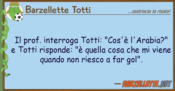 """Barzellette Totti prof. interroga totti: """"cos'? l'arabi"""