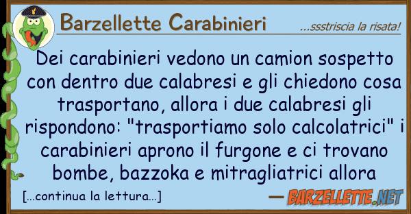 Barzellette Carabinieri carabinieri vedono camion sospett
