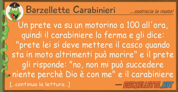 Barzellette Carabinieri prete va motorino 100 all'ora