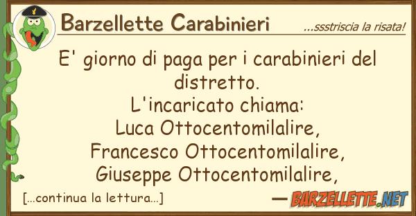 Barzellette Carabinieri e' giorno paga carabinieri