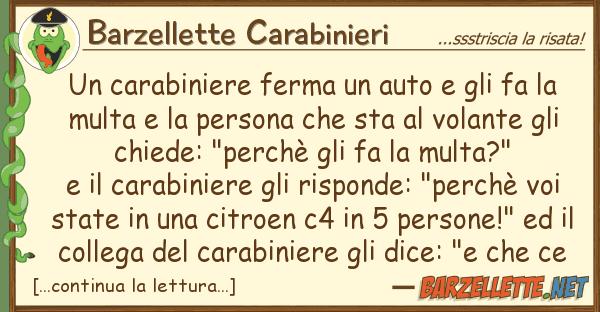 Barzellette Carabinieri carabiniere ferma auto fa